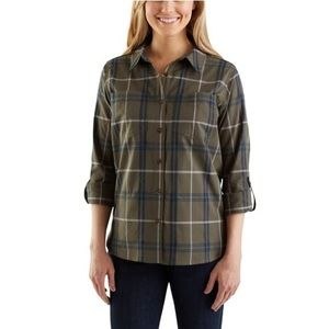 {Carhartt} Fairview Hunter Green Plaid Button Down